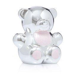 473-3138 Skarbonka z masy perłowej - różowa, miś