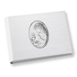 Album z obrazkiem srebrnym Pamiątka I Komunii dla dziewczynki DS0705A
