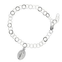 Bransoletka Zawierzenia Maryi - srebrny łańcuszek Niewolnictwa Maryi pr. 925 BNM05