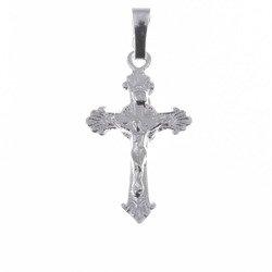 Krzyżyk na szyję srebrny z wizerunkiem Jezusa  MO058