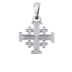 Krzyżyk srebrny Jerozolimski MO035