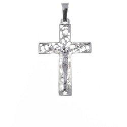 Krzyżyk srebrny z wizerunkiem Jezusa  MO061