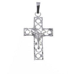 Krzyżyk srebrny z wizerunkiem Jezusa MO070