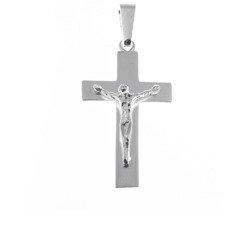 Krzyżyk srebrny z wizerunkiem Jezusa  MO080