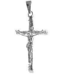 Krzyżyk srebrny z wizerunkiem Jezusa MO112
