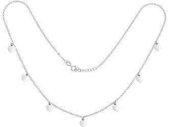 Łańcuszek Celebrytka SREBRNA - kilka elementów 7 SERC serduszek choker srebro pr 925 CEL57