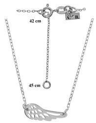 Łańcuszek celebrytka - piórko srebro pr 925 CEL36