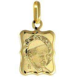 Medalik pozłacany 24k złotem - Papież Jan Paweł II MBR11/1