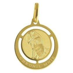 Medalik pozłacany 24k złotem - Papież Jan Paweł II MBR8/1