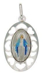 Medalik srebrny (1,9 g) - Matka Boża Niepokalana Cudowny medalik MK006