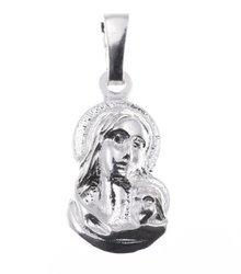 Medalik srebrny - Matka Boska z dzieciątkiem MO007