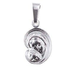 Medalik srebrny - Matka Boska z dzieciątkiem O06