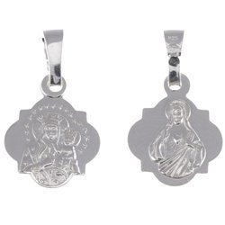 Medalik srebrny - Matka Boża Częstochowska Czarna Madonna M36