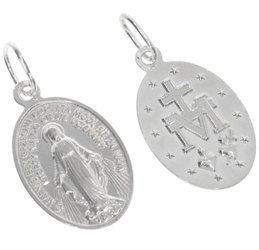 Medalik srebrny - Matka Boża Niepokalana Cudowny medalik ML021