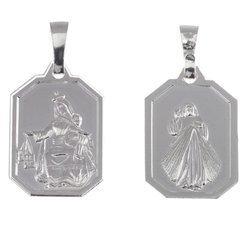 Medalik srebrny - Matka Boża Szkaplerzna Szkaplerz M026