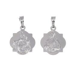 Medalik srebrny - Matki Bożej Szkaplerznej Szkaplerz M023