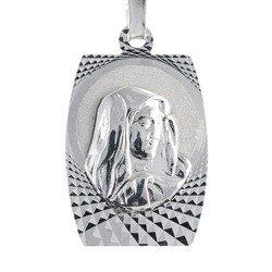 Medalik srebrny diamentowy - Matka Boska Bolesna MD18