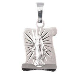 Medalik srebrny diamentowy - Matka Boska Niepokalanie Poczęta Niepokalanka MD48