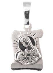 Medalik srebrny diamentowy - Matka Boża karmiąca MD68