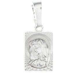 Medalik srebrny diamentowy - Matki Bożej MD45