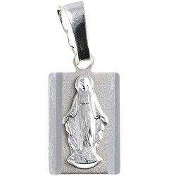 Medalik srebrny diamentowy -  Matki Bożej Niepokalanej Cudowny medalik MD5