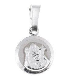 Medalik srebrny diamentowy - Papież Święty Jan Paweł II MD25