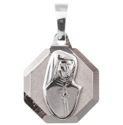 Medalik srebrny diamentowy - Święta Siostra Faustyna MD52