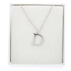 Naszyjnik celebrytka literka D 1,0 cm srebro rodowane pr 925 CELD1CM