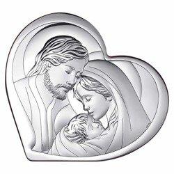 Obrazek Srebrny Święta Rodzina Serce 6432