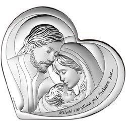 Obrazek Srebrny Święta Rodzina Serce 6432S