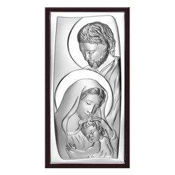 Obrazek Srebrny Święta Rodzina drewniana ramka 6547WM