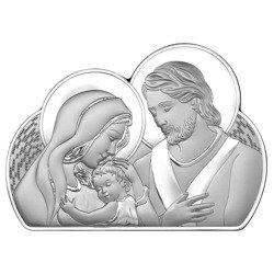 Obrazek Srebrny Święta Rodzina drewniana ramka 6567