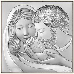 Obrazek religijny Srebrny Święta Rodzina 6725