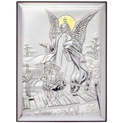 Obrazek srebrny Anioł stróż na kładce 31124OROA