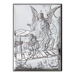 Obrazek srebrny Anioł stróż na kładce 81202