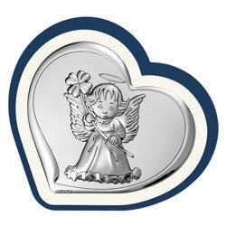 Obrazek srebrny Aniołek Pamiątka Chrztu 6447BP