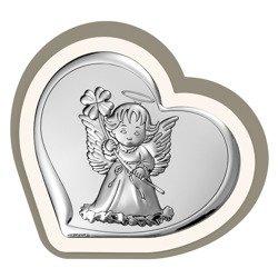 Obrazek srebrny Aniołek Pamiątka Chrztu 6447CC