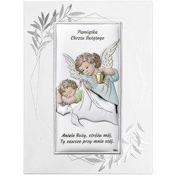Obrazek srebrny Aniołek Pamiątka Chrztu Świętego DS01FOC