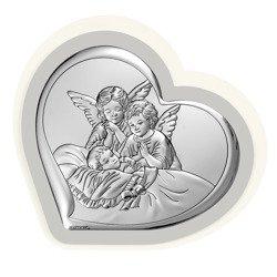 Obrazek srebrny Aniołki nad dzieckiem 6450PG