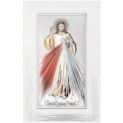 Obrazek srebrny Jezus Miłosierny DS26FC