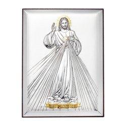 Obrazek srebrny Jezus Miłosierny – Jezu Ufam Tobie 31136OROA