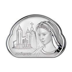 Obrazek srebrny Matka Boska z Medjugorje 81068