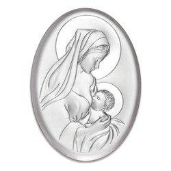 Obrazek srebrny Matka Boska z dzieciątkiem 6386