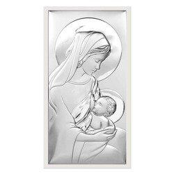 Obrazek srebrny Matka Boska z dzieciątkiem 6412W