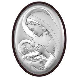 Obrazek srebrny Matka Boska z dzieciątkiem 6521WM