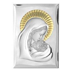 Obrazek srebrny Matka Boska z dzieciątkiem 81300ORO