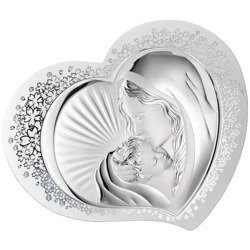 Obrazek srebrny Matka Boska z dzieciątkiem 81311