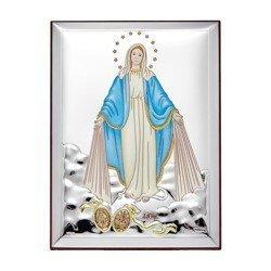 Obrazek srebrny Matka Boża Niepokalana 31137CER