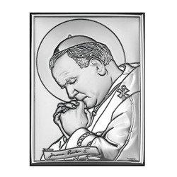 Obrazek srebrny Papież Święty Jan Paweł II 6367