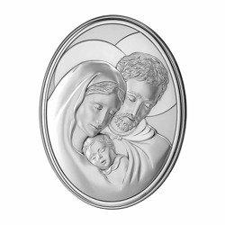 Obrazek srebrny Święta Rodzina 786